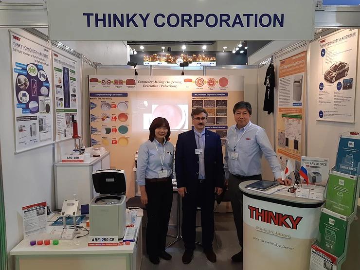 Совместное участие с компанией Thinky в выставке «Химия 2019»